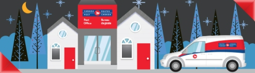 Canada Post holiday shipping graphic.