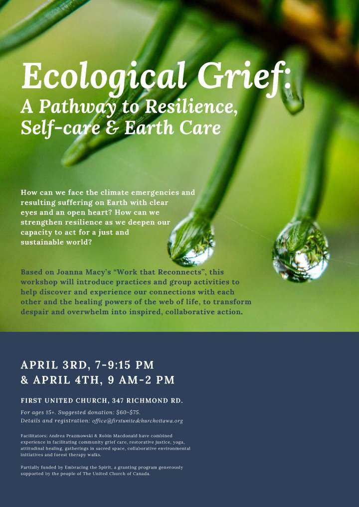 Eco Grief Workshop Poster First UC Feb. 24 - reduced