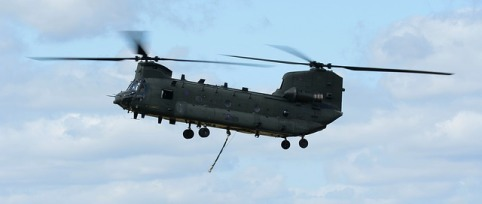 The Chinook helicopter is a widely used Canadian army aircraft.